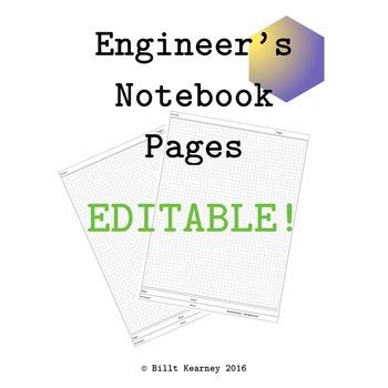 Engineer's Notebook Pages EDITABLE Mac Keynote Version