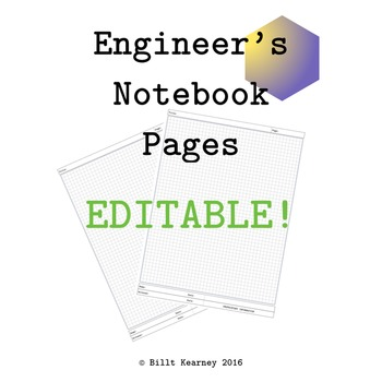 Engineer's Notebook Pages EDITABLE Microsoft PowerPoint Version