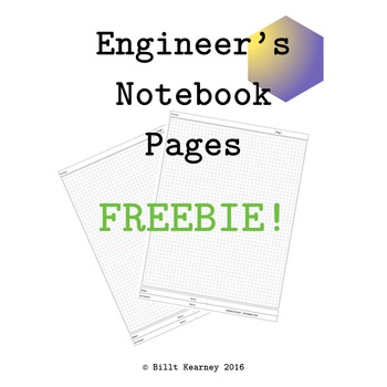 Engineer's Notebook Pages FREEBIE