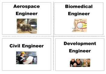 Engineering Careers A-Z Word Wall