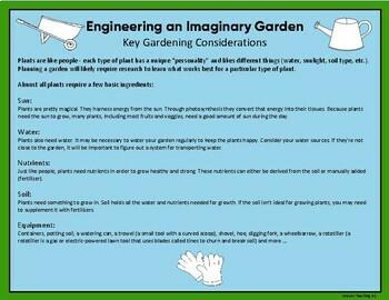 Plant Study: Engineering A Garden STEM