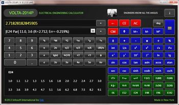 Engineering Calculator VOLTA-2014 for Windows, USER MANUAL