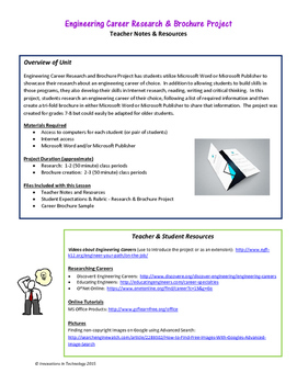 Engineering Career Research and Brochure Project