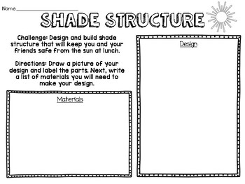 Engineering Challenge: Shade Structure