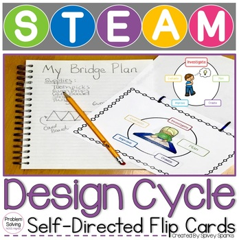 STEM Engineering Design Cycle Flip Cards