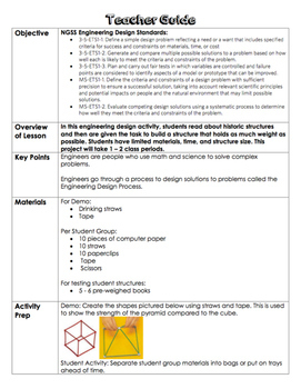 Engineering Design Activity #3 (3-5-ETS1 and MS-ETS1)