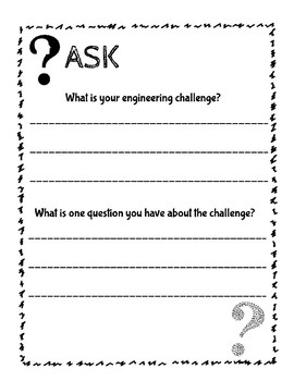 Engineering Design Booklet - 2nd-3rd Grade