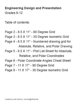 Engineering Design & Presentation - 90/30 Degree Plot and Grid Sheets