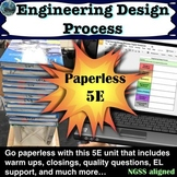 Engineering Design Process 5E Lesson including warm ups, c