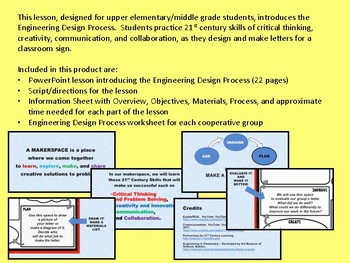 Engineering Design Process: A Makerspace Lesson & Cooperative Group Activity