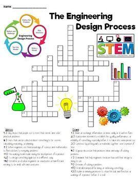engineering design process crossword puzzle tpt. Black Bedroom Furniture Sets. Home Design Ideas