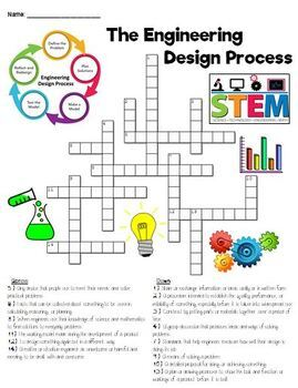 Engineering Design Process Crossword Puzzle Tpt