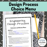 STEM Lesson - Design Process Choice Board (Review and Extension)