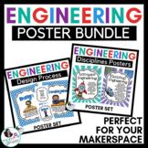 Engineering Design Process & Disciplines Posters BUNDLE