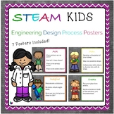 STEAM Kids Engineering Design Process Posters - Elementary Level