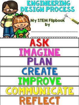 Engineering Design Process Flip book (STEM OR STEAM Flipbook)