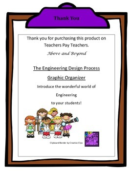 Engineering Design Process Graphic Organizer for Students