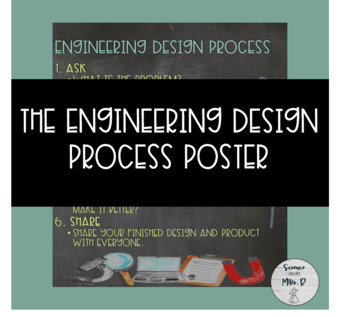 Engineering Design Process Poster - Chalkboard