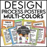 STEM Engineering Design Process Posters Multi-Colors