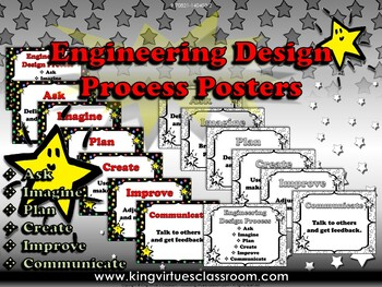 Engineering Design Process Posters #2 - Superstars Theme - King Virtue