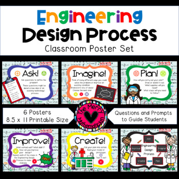 Engineering Design Process Posters Elementary By The Merry Mathematician