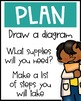 Engineering Design Process Posters Elementary - Ask, Imagine