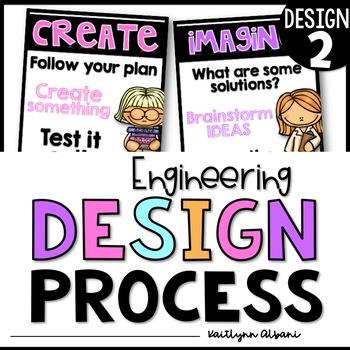 Engineering Design Process Posters Elementary STEM [Design #2]