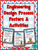Engineering Design Process Posters - Blue and Red Chevron
