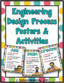 Engineering Design Process Posters - Bright Polka Dots