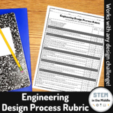 FREEBIE - Engineering Design Process Rubric (can be used with NGSS and PLTW)