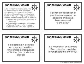 Engineering Design Process Task Cards