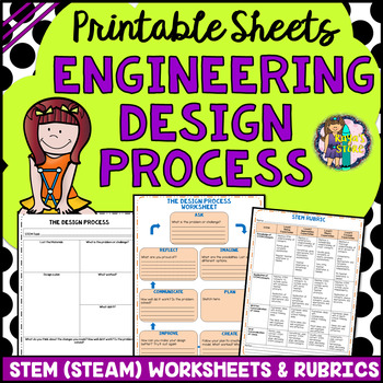 Engineering Design Process Worksheets and Rubrics (STEM/ STEAM Activity)