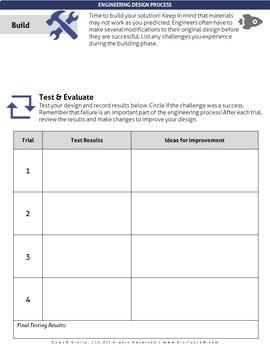 Engineering Design Process Worksheets (for all STEM Design Challenges)