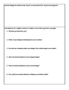 Engineering & Design Project Graphic Organizer - NGSS