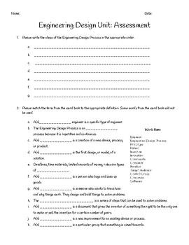Engineering Design Unit Quiz
