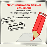 Engineering Design and STEM Challenges Rubric - NGSS (3 Rubrics)