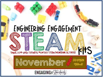 Engineering Engagement STEAM Kit - November Edition (Feather Themed Challenges)