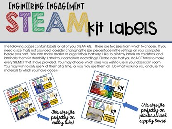 Engineering Engagement STEAM Kits - August Edition (Crayon Themed Challenges)