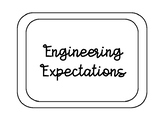 Engineering Expectations Black and White Posters