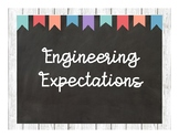 Engineering Expectations Chalkboard Posters