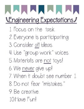 Engineering Expectations Posters