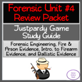 Engineering, Fire & Arson, Firearm Evidence, Ballistic Evidence: Review Packet