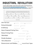 Engineering History:  Industrial Revolution Cryptogram Puzzle