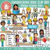 Engineering Kids Clip Art – Middle School / Teen (STEM Series)