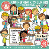 Engineering Kids Clip Art – Young Kids (STEM Series)