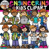 Engineering Kids Clipart {STEM Kids Clipart}