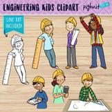 Engineering Kids Clipart | Set of 6 Middle School Kids