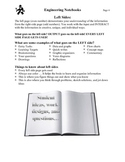 Engineering Notebooks For Middle School Printable