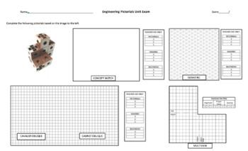 Engineering Pictorials Sketching Unit Exam