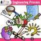 STEM Engineering Process Clip Art {STEAM Science Graphics